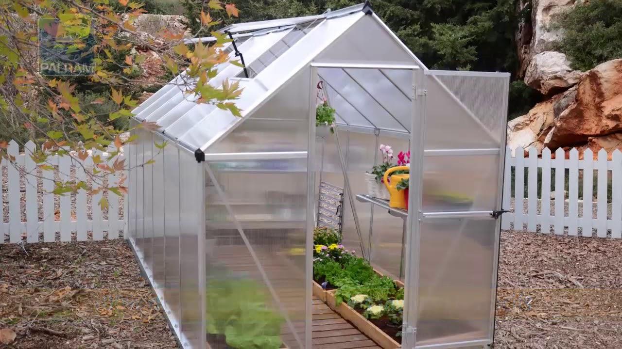 Serre de jardin palram mythos en aluminium et - Serre jardin polycarbonate caen ...
