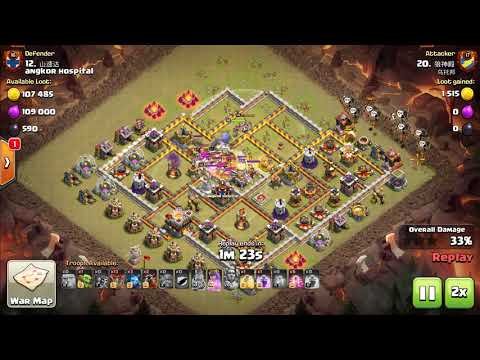 Best War Attack Ever, Bowlaloon is The best Skills ever, Watch and Learn, COC 3 stars TH11