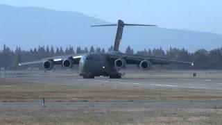 STOL Short Landing C-17 at NASA Ames Moffett field