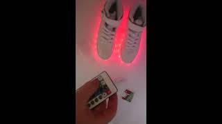 светящиеся кроссовки  с пультом