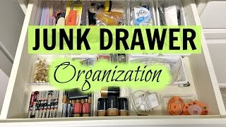 ORGANIZING MY KITCHEN JUNK DRAWER | BEFORE & AFTER | DESTINY