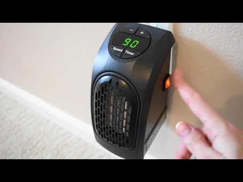 Calefactor Bano Leroy Merlin.Calefactor De Ceramica Handy Heater 400w Youtube
