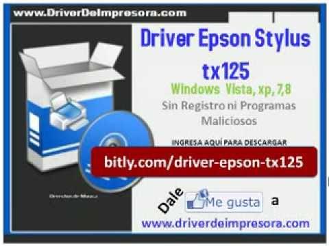 TX125 EPSON DESCARGAR DRIVER