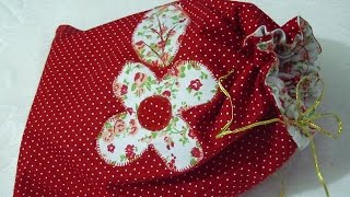 Sacola de tecido para presentes