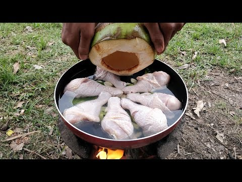 Tasty Chicken Drumstick Cooking Coconut Juice | Easy Chicken Drumstick Recipe