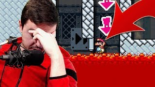 I LITERALLY ALMOST QUIT This Super Mario Maker 2 TROLL Level...