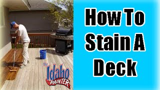 How to stain or oil a deck professionally.  How To Stain A Deck.