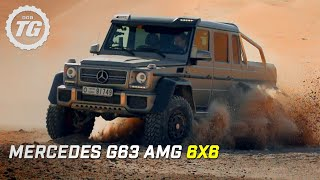 Mercedes G63 AMG 6x6 Review - Top Gear - Series 21 - BBC(Hammond is in the dunes of Abu Dhabi to drive a new six wheeled machine from Mercedes Benz – the G63 6x6. Originally developed for the Australian military, ..., 2014-11-16T10:00:05.000Z)
