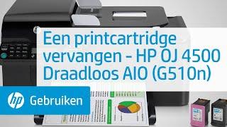 Een printcartridge vervangen - HP Officejet 4500 Draadloos All-in-One (G510n)