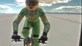 Рекорд скорости на велосипеде 268км/ч Фред Ромпелберг(Скорость велосипеде - http://velosreda.ru/stati/bezopasnoe-katanie/306-skorost-velosipeda., 2015-01-12T09:15:05.000Z)