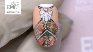 Урок маникюра. Дизайн ногтей узоры и розы