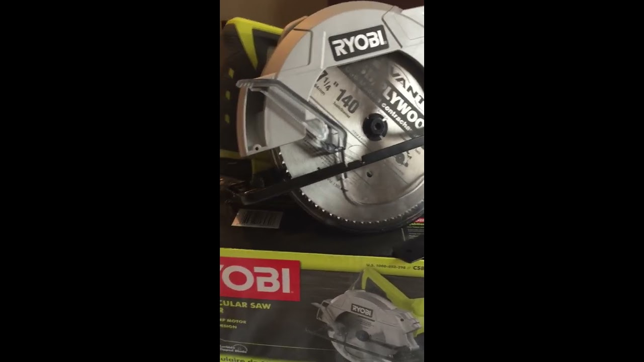 Unboxing the 14 amp ryobi circular saw 7 14 blade with laser unboxing the 14 amp ryobi circular saw 7 14 blade with laser keyboard keysfo Image collections