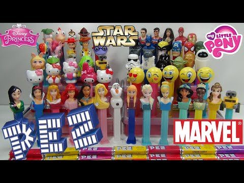 HUGE PEZ Collection Over 55 #PEZ Dispensers Disney Princesses My Little Poney Hello Kitty