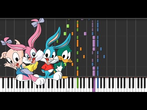 Tiny Toons Theme  Piano  Synthesia