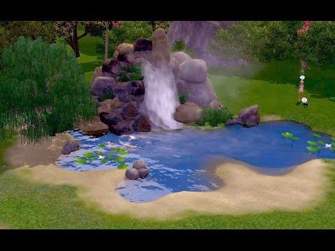 The Sims 3 как сделать водопад