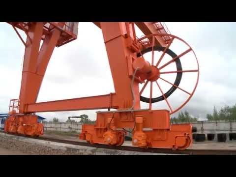 Испытания козлового крана 50Т, Набережночелнинский крановый завод, АО
