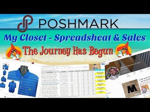 My 1st 2 Months Selling on POSHMARK - Closet,  Sales & Spreadsheet