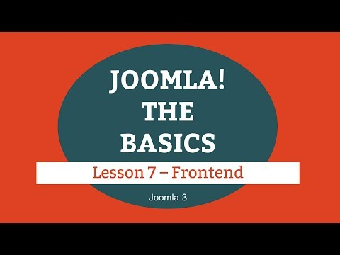 Joomla 3 Tutorial - Lesson 07 - Frontend