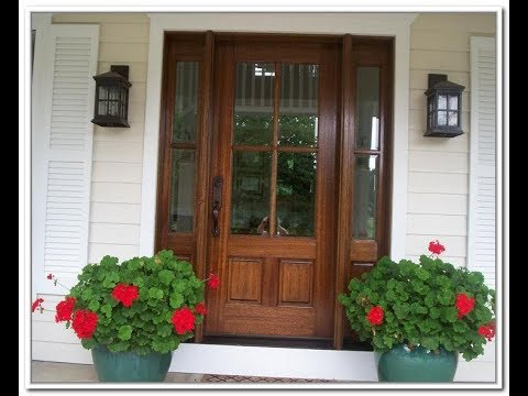 Exterior Wood Doors with Glass Panels - YouTube