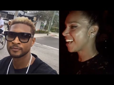 Usher Buys A Club Out  to Celebrate Grace's Birthday with Private Performance
