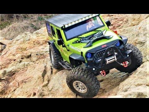 rc car scx10 ii t rock jeep wrangler rock trail youtube. Black Bedroom Furniture Sets. Home Design Ideas