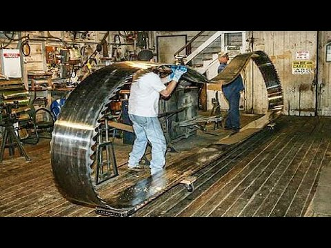 Incredible longest band saw blade manufacturing process. Amazing machines production process methods