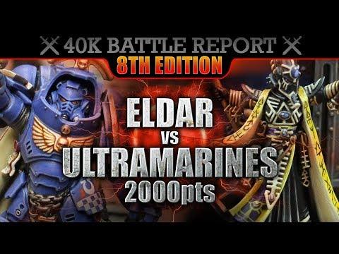 Eldar Vs Ultramarines Warhammer 40000 Battle Report 2000pts S7:E31 BEST LAID PLANS!