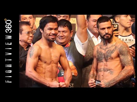 PACQUIAO VS MATTHYSSE WEIGH IN RESULTS! $5 ON ESPN+ APP! WBA SUPER TITLE? MUST AVOID LUCAS KO POWER!