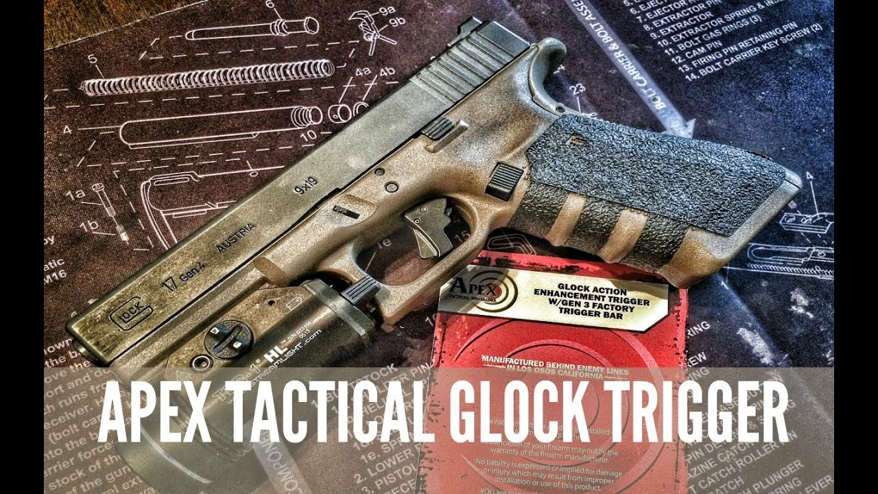 APEX TACTICAL GLOCK ENHANCEMENT TRIGGER INSTALL & REVIEW
