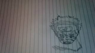 How to draw Naruto 3 Tails Mode