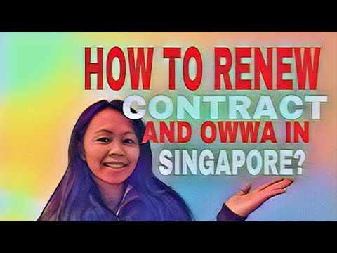 HOW TO RENEW CONTRACT IN THE SAME EMPLOYER,IN SINGAPORE ?