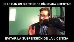 Si le dan un DUI tiene 10 días para intentar evitar la suspensión de la licencia