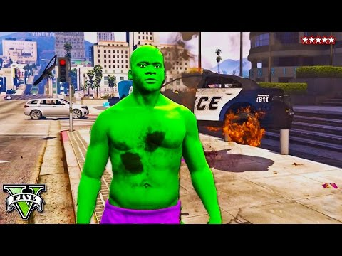 GTA 5 HULK MOD!! HULK SMASH!! Epic Incredible Hulk Montage - PC Mods Gameplay (GTA 5 Funny Moments)