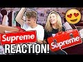 Cute Girl Opens my Supreme Packages! (Interesting Reactions)
