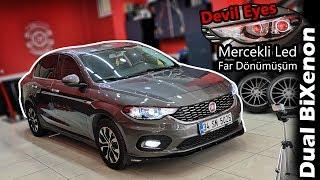 Fiat Egea Mercekli Far Yaptık!!! - Dual BiXenon Led // Devil Eyes