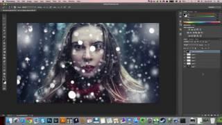 Как наложить снег на фото