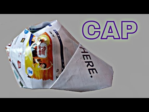 How to make a CAP SIMPLE AND EASY ORIGAMI