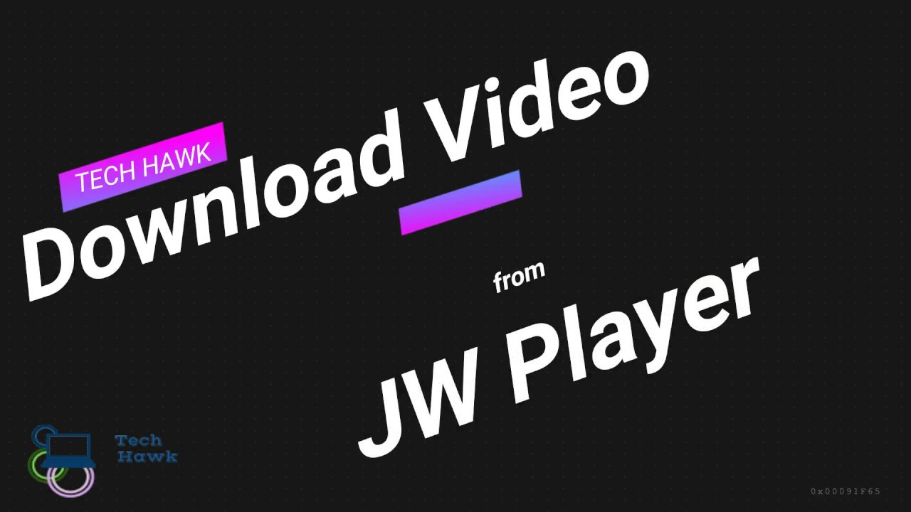 how to download embedded jw player videos