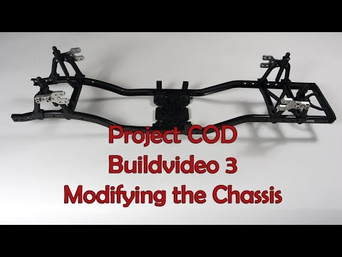 COD buildvideo 3 SCX10 chassis mod for longer wheelbase