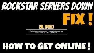 Video How To Fix Rockstar Severs when they are Unavailable or Down download MP3, 3GP, MP4, WEBM, AVI, FLV Juni 2018