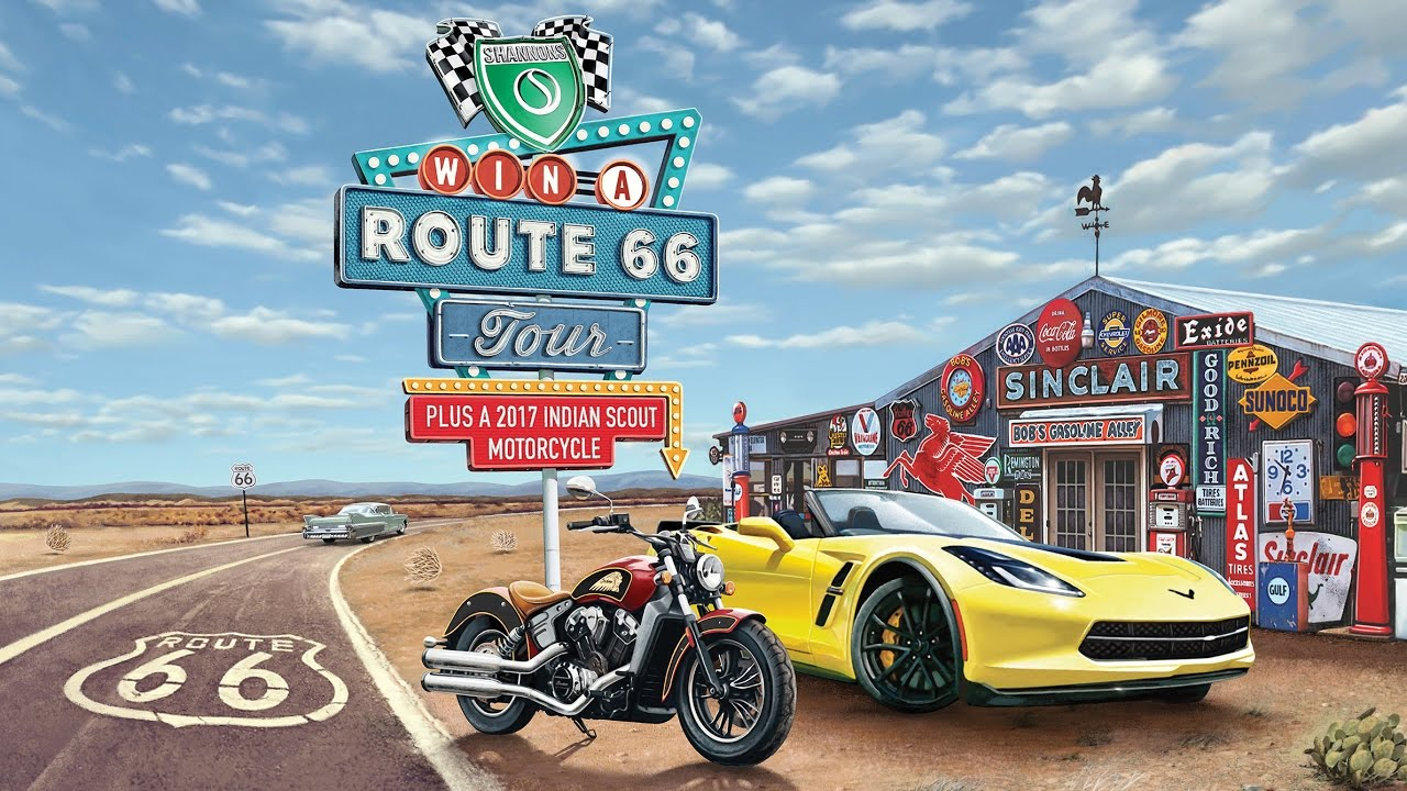 Win a Shannons Route 66 Tour Plus a 2017 Indian Scout Motorcycle