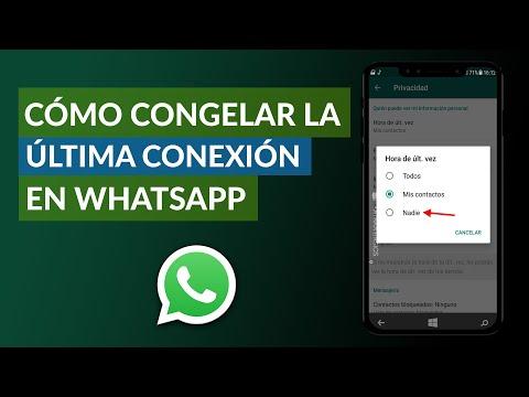 Cómo Congelar la Última Conexión en WhatsApp – Truco Infalible