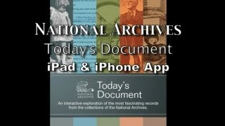 Archives mobile application, Today's Document