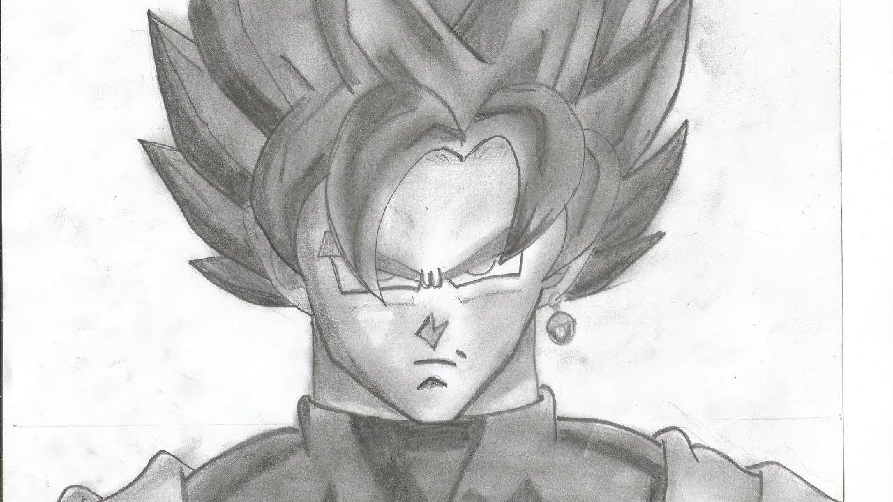 Cómo Dibujar A Goku Black Ssj Rose Con Lápices De Colores