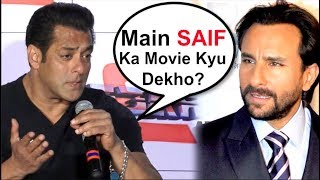 Salman Khan INSULTS Saif Ali Khan At Race 3 Trailer Launch- Video