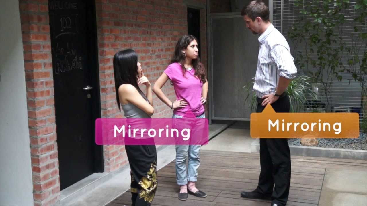 Mirroring body language attraction