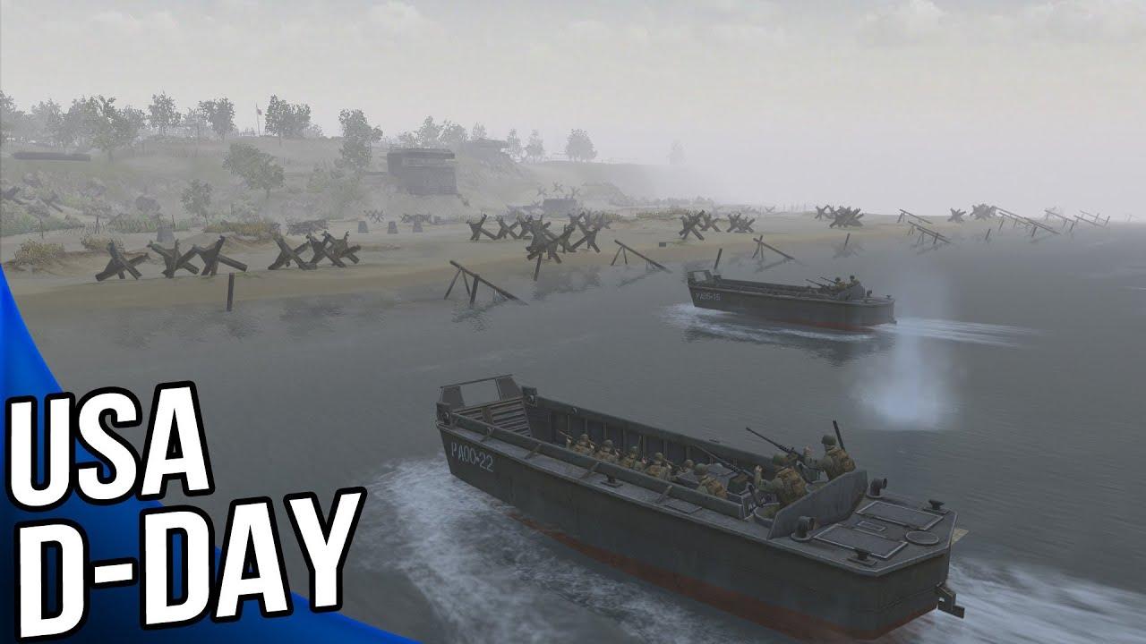 Men of War Assault Squad 2 - USA Omaha Beach D Day Gameplay
