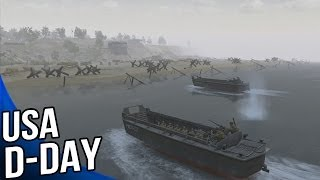 Men of War Assault Squad 2 - USA Omaha Beach D Day Gameplay