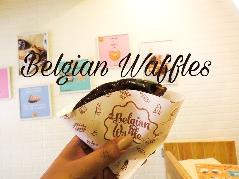 CHOCOLATE WAFFLE at The BELGIAN WAFFLE CO., MUMBAI | Restaurant Tour | My Plate Review