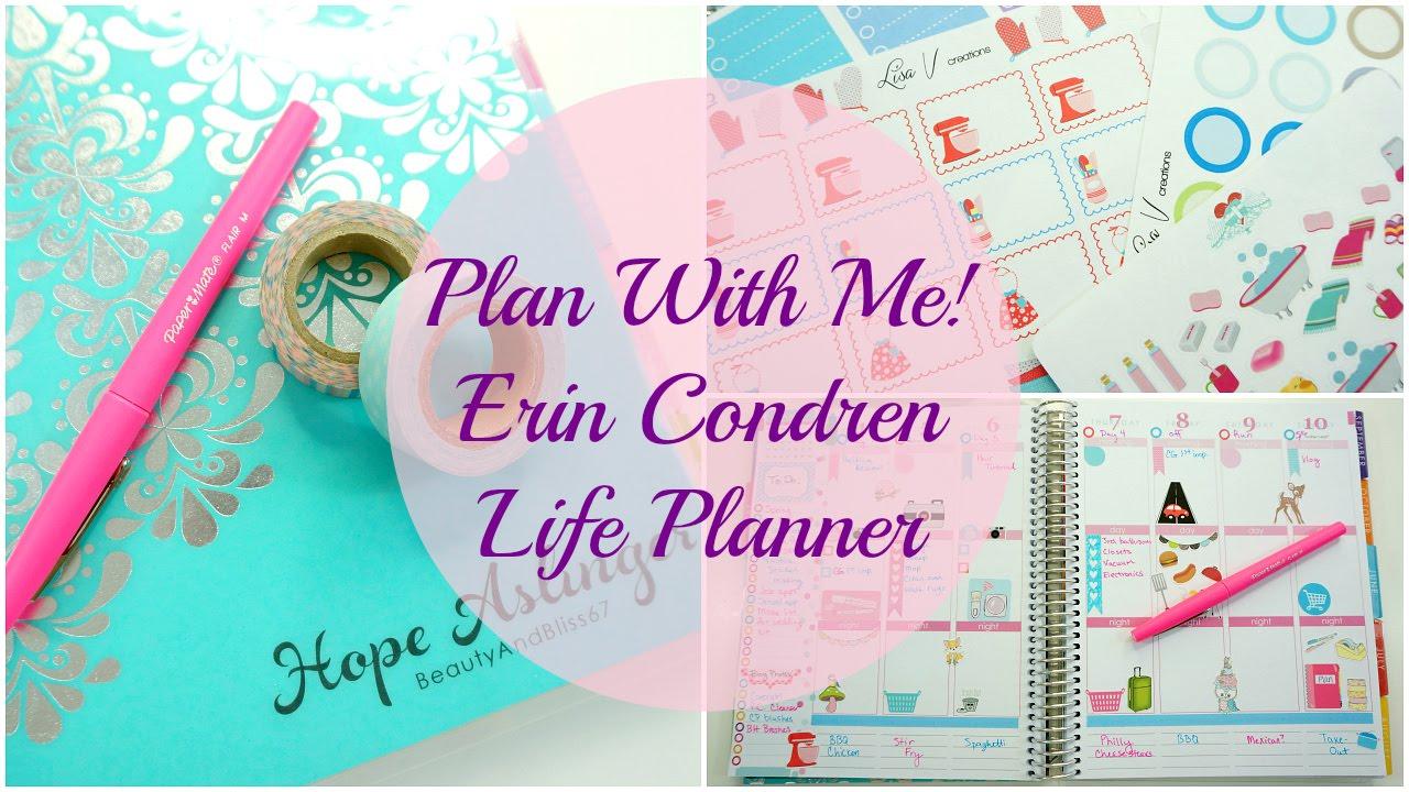 Plan With Me Erin Condren Life Planner Youtube
